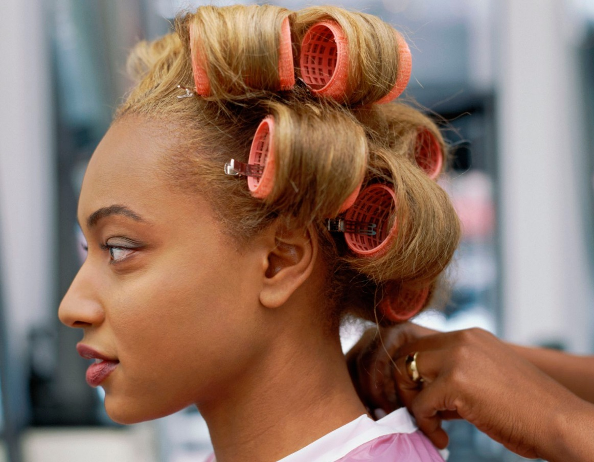 Instead of heating your hair use rollers for nice curly, wavy hair